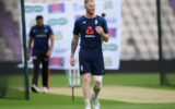 Ben Stokes preparing to bowl ahead of the Test series against Pakistan