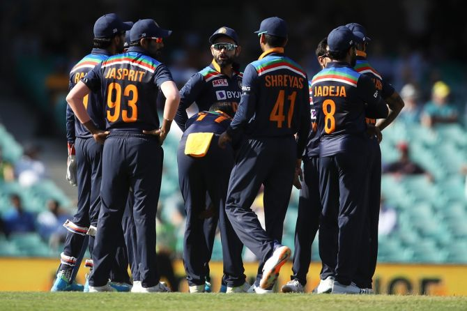 Team India fined for maintaining slow over-rate against Australia in first ODI