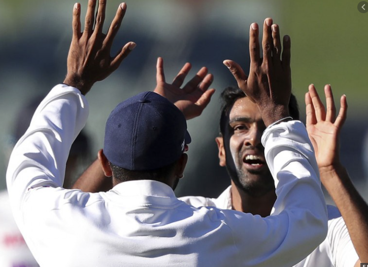 Ashwin after picking takes 4 wickets against Australia