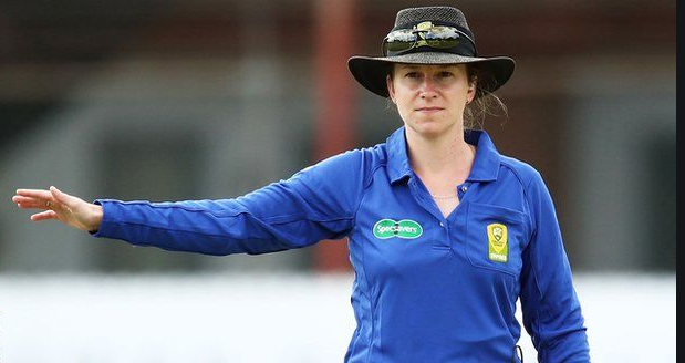 Claire Polosak is all set to become the first women to officiate in men's Test cricket