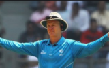 Umpire Bruce Oxenford called it quits from international cricket