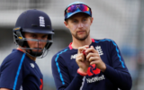 Joe Root and Sam Curran talk with India's Street Child Cricket team members
