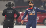 Umpire Nitin Menon ignores Virat Kohli as he analyzes a wide-ball; leaves netizens in splits (1)
