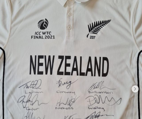 Tim Southee auctions his WTC Final jersey to fund treatment of an 8-year-old