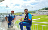 """""""We are in Southampton"""": Rohit Sharma poses with Rishabh Pant"""
