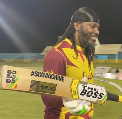 ICC don't want me to use the Universe Boss: Chris Gayle on his new bat sticker