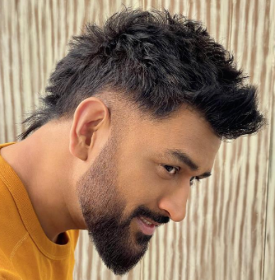 MS Dhoni experiments with a new hairstyle; Fans go crazy!