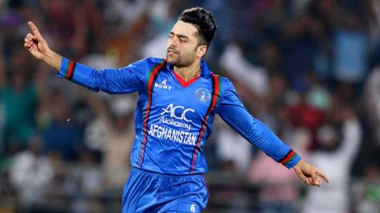 Rashid Khan reacts after taking up the T20I captaincy role of Afghanistan