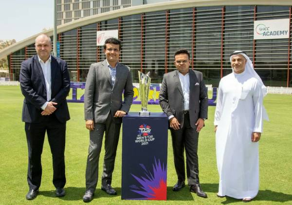 BCCI launches T20 World Cup along with dignitaries in Dubai